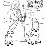 Shepherd Coloring Pages Jesus Easter Sunday Bible Sheep Printable Craft Crafts Preschool Christ Activities Colouring Lost Story Sheets Religious Lord sketch template