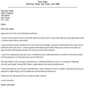 Hr Administrator Cover Letter Example Icover Org Uk