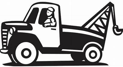 Tow Truck Towing Cartoon Clipart Scrap Metal