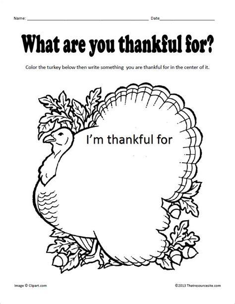 thankful  worksheet  resource site