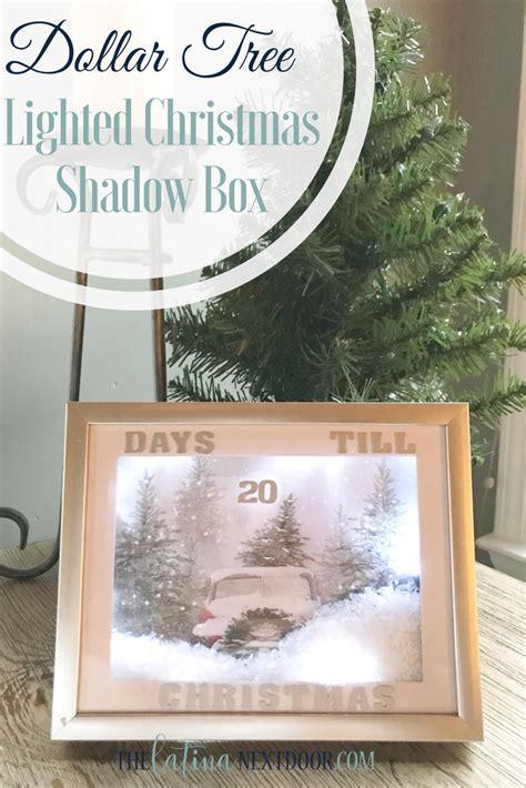 christmas lighted diy shadow box  latina  door