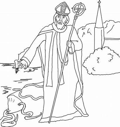 Coloring Patrick Saints Saint Printable Religious Activity
