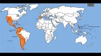 Map of Spanish Empire (1492-1977) - YouTube