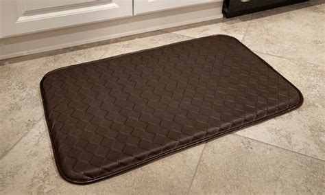 memory foam kitchen floor mat memory foam anti fatigue kitchen mats groupon 9139