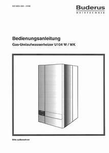 Buderus Heizung Wasser Nachfüllen : bedienungsanleitung buderus u104 w seite 1 von 4 deutsch ~ Yasmunasinghe.com Haus und Dekorationen