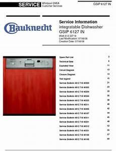 Bauknecht Gsip 6127 In Dishwasher Service Manual