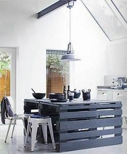 la cuisine avec ilot central idees de decoration et With idee deco cuisine avec grand lit