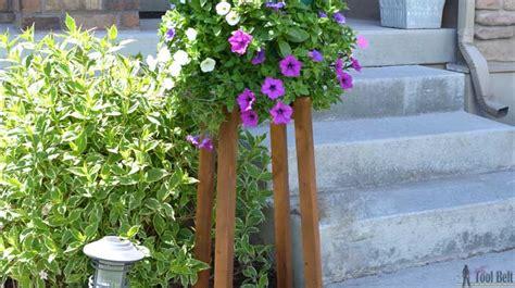 diy flower pot stand  tool belt