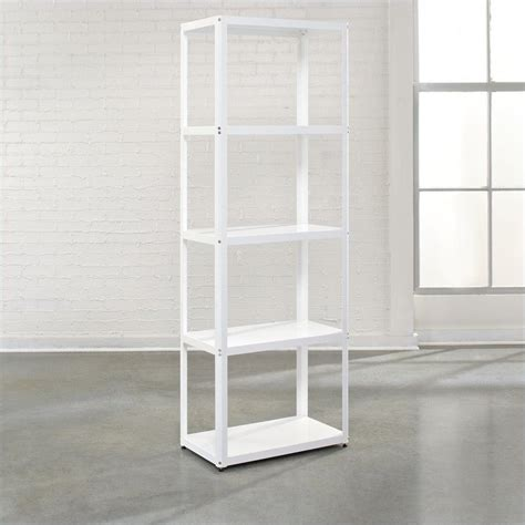White Backless Bookcase by Studio Rta Soft Modern Bookcase In Arctic White Metal