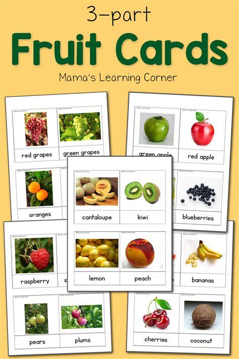 fruit  part cards mamas learning corner