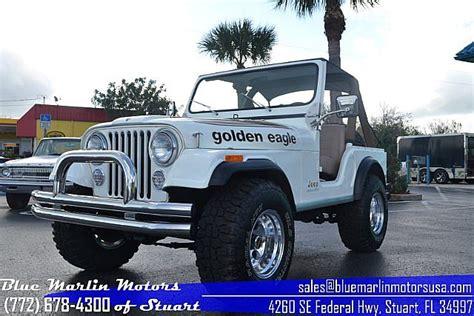 jeep eagle for sale 1980 jeep cj5 golden eagle for sale stuart florida