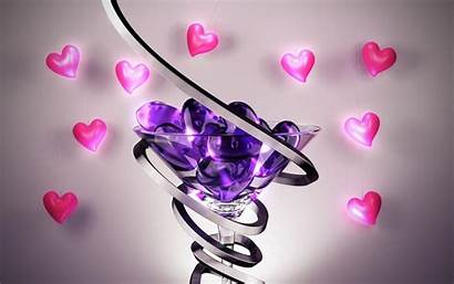 Heart Hearts Glass Wallpapers Purple Pc Desktop