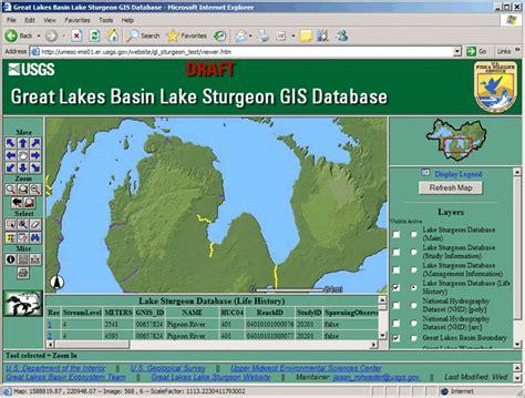 great lakes basin lake sturgeon gis