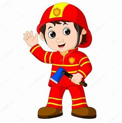 Fireman Pompier Feuerwehrmann Clipart Bombero Cartoon Axe
