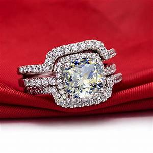 aliexpresscom buy hot luxury new bridal set wedding With new wedding ring sets