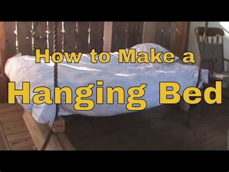 how to make a hanging l how to make a hanging bed wooden hammock porch swing