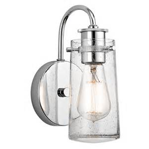 braelyn 1 light wall sconce in chrome