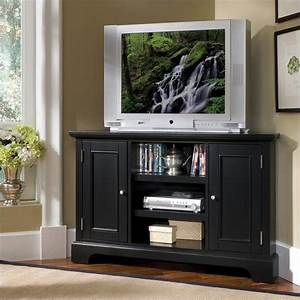 Home Styles Bedford Entertainment Corner Ebony TV Stand eBay