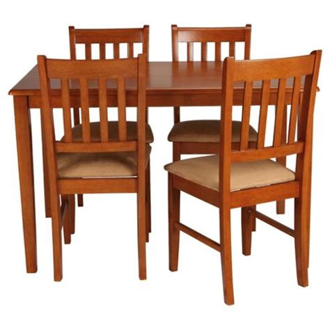 buy essen rubberwood dining table and 4 chairs from
