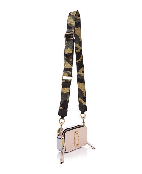 lyst marc jacobs camo webbing handbag strap  black