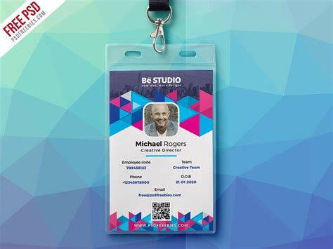 abstract office id card  psd  psd freebies  dribbble
