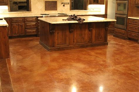 stained concrete floor kitchen residential polished concrete stuart palm 5694