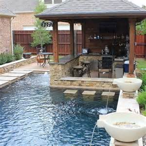 Small Back Yard Pool with Bar