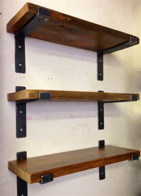 Hardwood Wall Shelves by Best 25 Shelving Brackets Ideas On Open Shelf