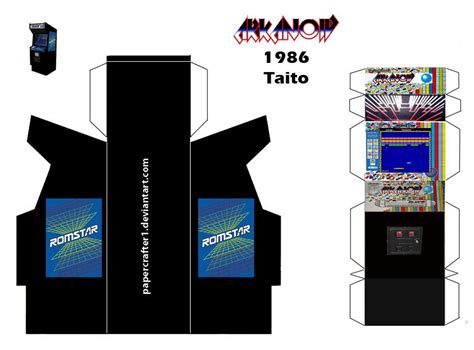 arcade template download arkanoid papercraft arcade template by papercrafter1 on