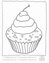 Template Cupcake Coloring Pages Sprinkles Adult Templates Wonderweirded Cupcakes Printable Plain Deserts Activities Zapisano sketch template