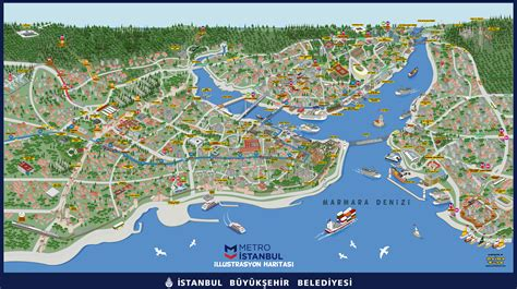 illustrated map  istanbul metro  mapporn