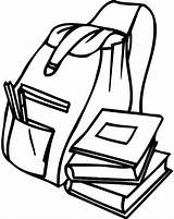 Backpack Coloring Pages Student Tocolor Backpacks Books Getcoloringpages Open sketch template