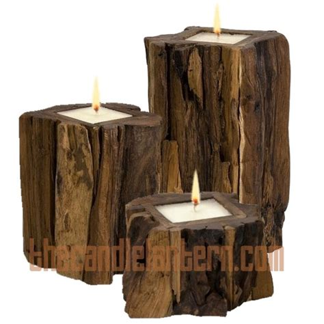 rustic candle holders for mantle for the home