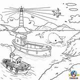 Rescue Coloring Pages Thomas Drawing Friends Island Water Train Helicopter Harbour Lifeboat Sea Captain Harold Sodor Tank Colouring Harbor Bulstrode sketch template