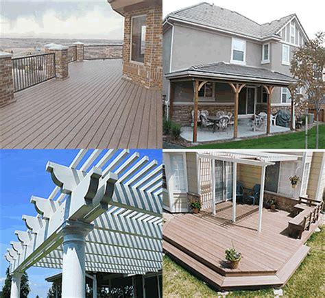 maintenance free decks patio covers carefree