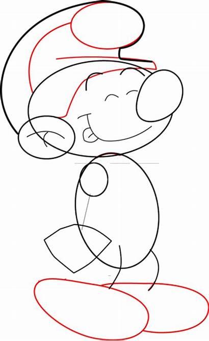 Step Easy Draw Drawing Smurfs Lesson Smurf