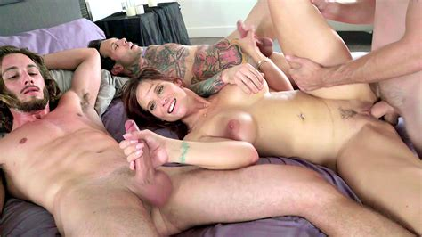 Excited Mom Serves Three Xxx Cocks During Crazy Incest
