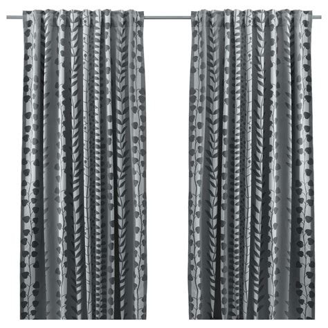 white and gray curtains ikea gunni block out curtains 1 pair grey 145x300 cm ikea