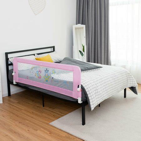 bed safety rail baby guard walmart breathable gymax toddlers swing children pink down rails