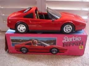 barbie red cars barbie ferrari red car walk down memory lane pinterest