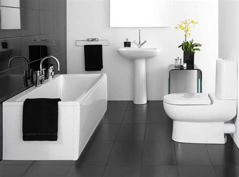 black bathrooms ideas cool black and white bathroom decor for your home