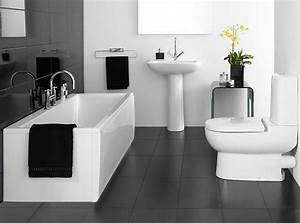 Cool black and white bathroom decor for your home for Black and white bathrooms images