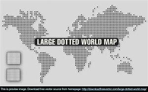 8 Vector Dotted World Map Images - Free Vector World Map ...