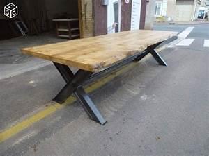 Planche De Bois Brut Avec Ecorce : table de salle manger fer bois corce brut 3 m bois ~ Melissatoandfro.com Idées de Décoration