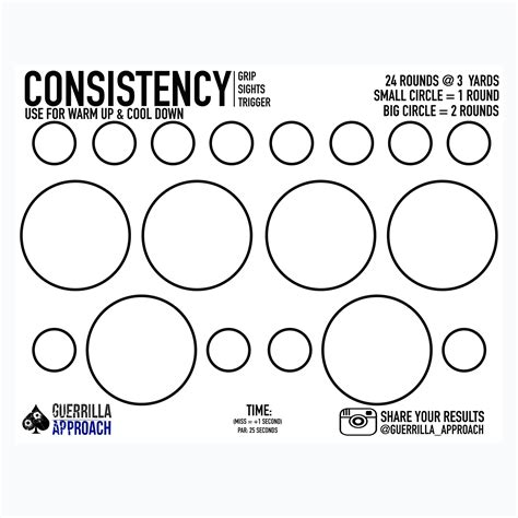 Guerrilla Approach LLC | CONSISTENCY TARGET (FREE)