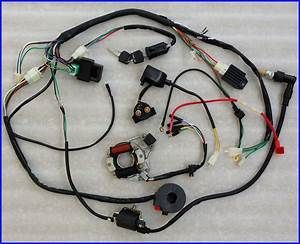 Complete Electrics  70  110  125cc  Coil Cdi Harness Wiring Us Stock