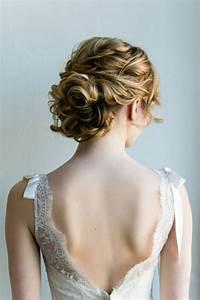Coiffure Blonde Mi Long : chignon pour mariage cheveux mi long ~ Melissatoandfro.com Idées de Décoration