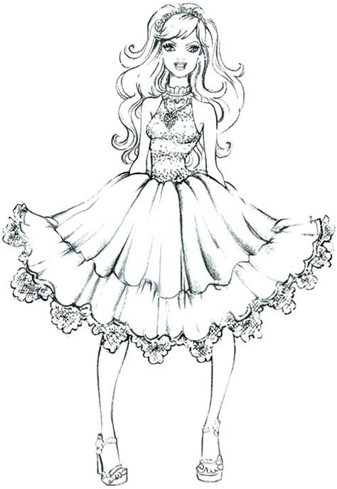 Dress Coloring Pages Coloring Pages Fashion Coloring Pages Fashion Colouring Pages Fashion