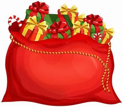 Santa Clip Bag Clipart Yopriceville Transparent Clips