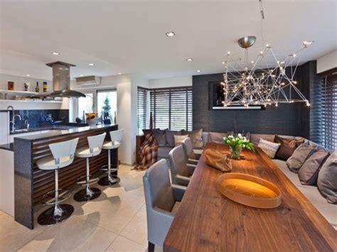 Great Livingroom Kitchen Together Idea